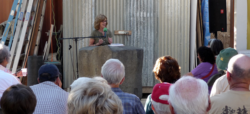 outdoor poetry reading laureate lalapalooza
