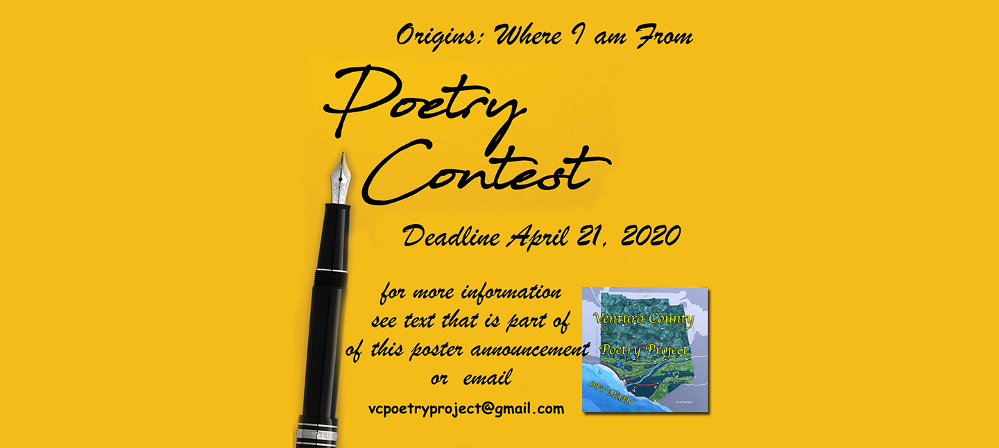 VC Poetry Project Contest Poster April 2020